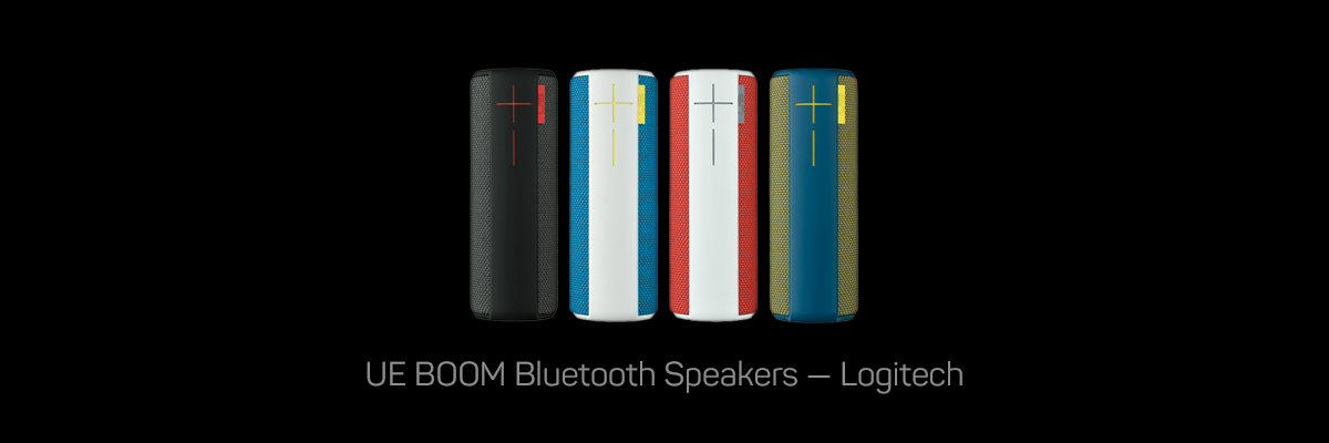 UE BOOM Speakers, Logitech